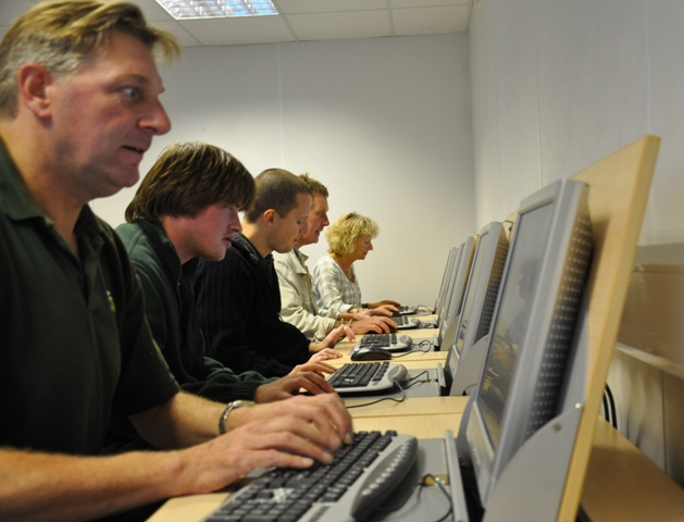 staff in the IT suite